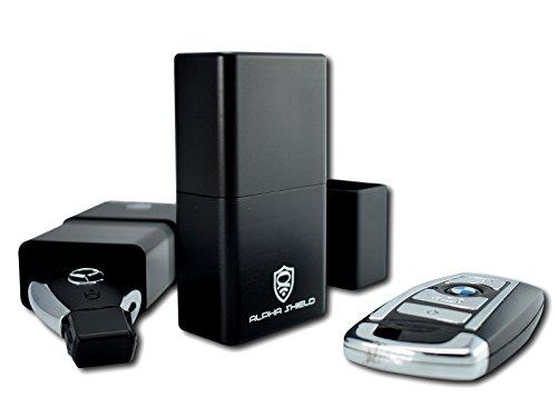 alpha shield premium keyless go schutz aluminiumdose f r autoschl ssel rfid blocker schutzh lle. Black Bedroom Furniture Sets. Home Design Ideas
